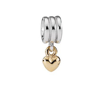 BEADING CHARM STERLING SILVER WITH GOLD 790173 Pandora