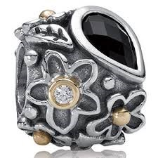 BEADED SILVER & GOLD GENUINE STONES 790540O Pandora
