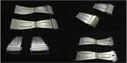 Clôture de l acier pour courroie métallique Ref CLASP5: Couleur Acier et Largeur 12mm CMCLASP5.CC.12 Diloy