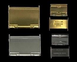 Cierre acero para correa metalica Ref CLASP6: Color Chapado IPG y Ancho 18mm CMCLASP6.FB.18 Diloy