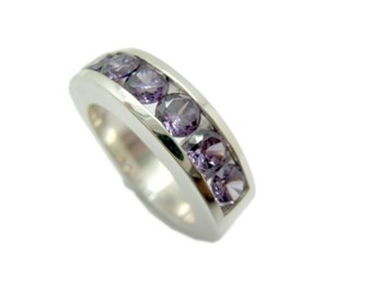 RING MEDIA ALLIANCE ZIRCONS LILAC A-866-LOVE-RED B-79 A-866-Ama-red