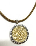 COGANTE NECKLACE SILVER AND SWAROVSKI REVERSIBLE 000011205 Zinzi