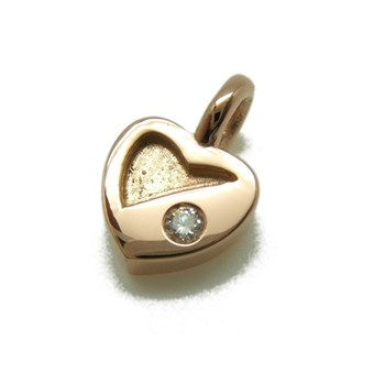 PENDANT HEART OF GOLD WITH BRILLIANT C-168 B-79