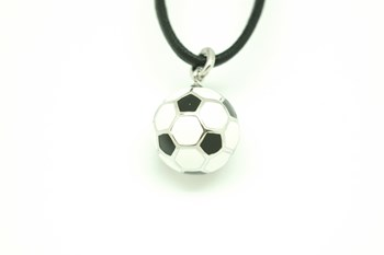 Ballon de soccer pendentif 16 mm diamètre CO11136 Alex Ball