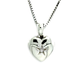 HEART PENDANT SILVER SHINY  Hot Diamonds 585DP134