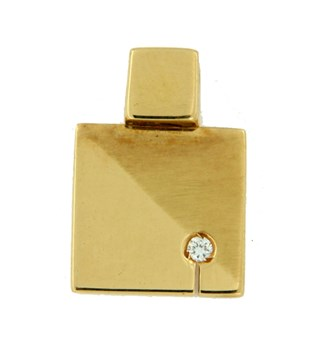 Colgante de oro con diamante