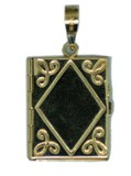 PENDANT GOLD BOOK