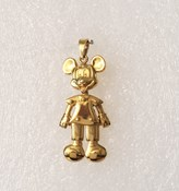 GOLD MICKEY MOUSE ARTICULATED MICKEYART PENDANT Disney