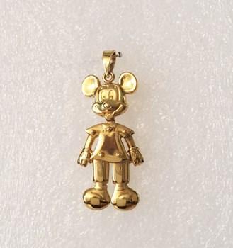 Pendentif or Mickey Mouse articulé MICKEYART Disney