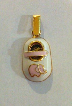 BOOTIES PINK GOLD PENDANT