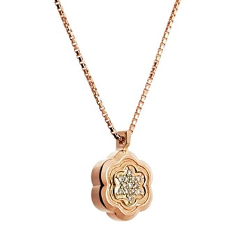 PENDANT ROSE GOLD WITH DIAMONDS. CNP-0203/22 Oreage