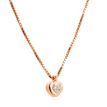Colgante de oro rosa con diamantes. CNP-0279/83 Oreage