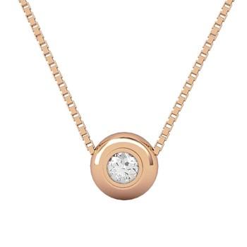 Pendentif en or et diamant rose. CNP-0333/10 Oreage