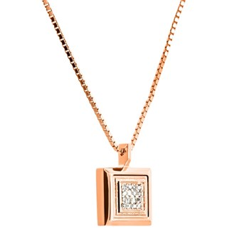 PENDANT ROSE GOLD AND DIAMONDS. CNP-0201/43 Oreage