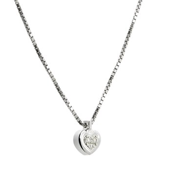 SILVER PENDANT WITH DIAMONDS. CNP-0279 / 225 Oreage CNP-0279/225