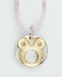 HANGING ROUND DISNEY GOLD 18 K SOLID AND SILVER FPOD-202  Finor