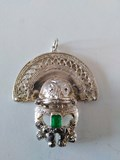 PENDANT EMERALD AND STERLING SILVER