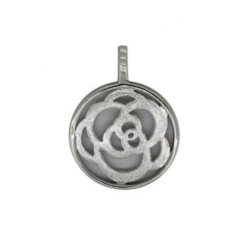 Colgante flor calado en plata 44H18 Stradda