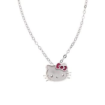 Colgante Hello Kitty de plata con cadena 1HK-0003