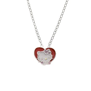 PENDANT HELLO KITTY HEART SILVER CHAIN 1HK-0005