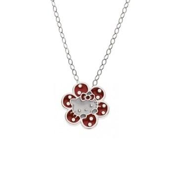 Hello Kitty pendentif chaîne 1hk-0004 Silver flower