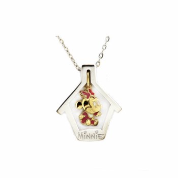 PENDANT MINNIE DISNEY HOUSE DETACHABLE GOLD 18 K SOLID AND SILVER FDB-652 Finor