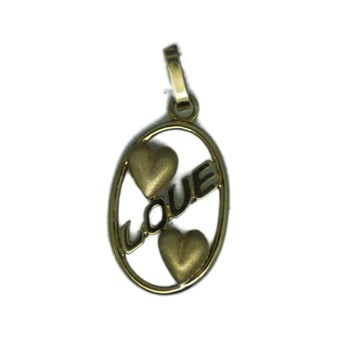 PENDANT GOLD 2 HEARTS
