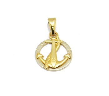 PENDANT GOLD ANCHOR AND ROPE