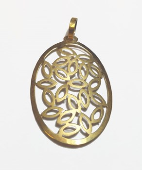 Droit ovale or pendentif
