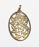 PENDANT GOLD OVAL LAW