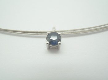 PENDANT WHITE GOLD AND SAPPHIRE (B-79
