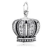Argent zircon pendentif Couronne 390346CZ Pandora