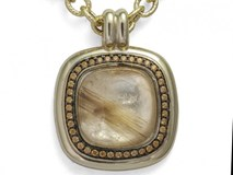 PENDANT SILVER FIRST LAW BATH GOLDEN STONES AND QUARTZ RUTILATED 9149CGC Marina Garcia