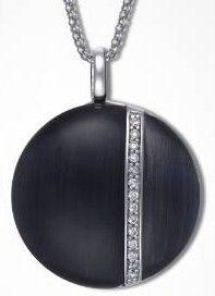 Time Force Black Silver Pendant 120301