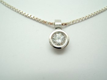 PENDANT SILVER AND CUBIC ZIRCONIA. S-105 B-79