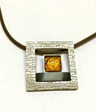 PENDANT SILVER AND CITRINE 000370322 Joiells