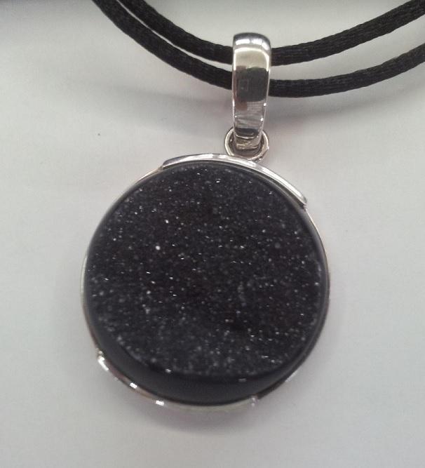 Colgante de cuero collar cadena mosquetón 2 mm 10815
