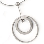 PENDANT SURGICAL STEEL WITH DIAMONDS XEN 031372G0 031372G0