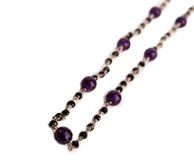 NECKLACE AMETHYST AND BLACK SPINEL