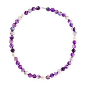 Collar amatista y perlas cultivadas