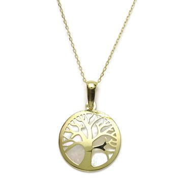 COLLAR �TREE OF LIFE GOLD 18K WITH N�CAR AND CHAIN, FORCED-40CM. CLOSE REASA NEVER SAY NEVER