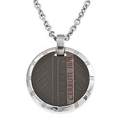 Collar Caballero Composición: ACERO INOXIDABLE + PATINA DE METAL NEGRO RH41100SN Cerruti 1881