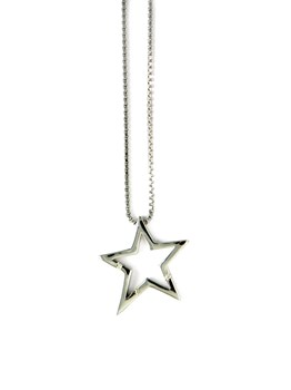 VENETIAN CHAIN WITH PENDANT NECKLACE STAR MISMAREFERENCIADP093 Hot Diamonds P093-
