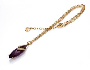 PLATED NECKLACE GOLD GEM AND CRYSTAL SRA BIJOUX Viceroy B1076C100-97