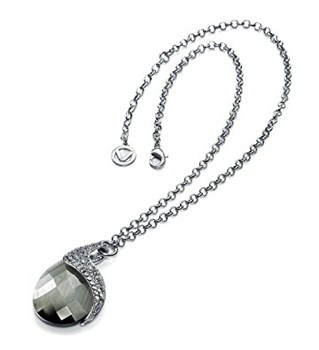 NECKLACE PLATING RHODIUM STONE AND GLASS SRA BIJOUX VICEROY B1075C000-90
