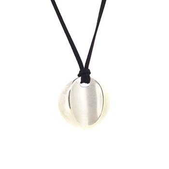 Collar Circular de Plata con Cordón Terciopelo 14H2 Stradda