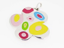 PENDANT NECKLACE SILVER AND ENAMEL AGATHA RUIZ OF THE PRADA Agatha Ruiz de la Prada colagatha