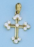 PENDANT NECKLACE GOLD - OWN - 2480-CROSS