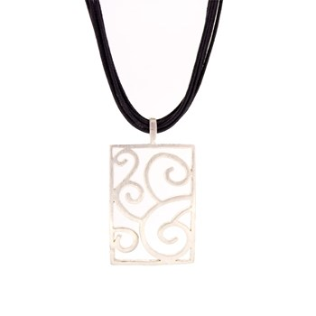 NECKLACE WITH PENDANT RECTANGULAR  Stradda 15H7-1