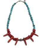 COLLIER TURQUOISE CORAIL